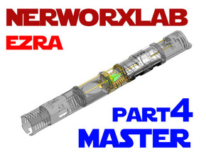 NWL Ezra - Master Part4 Lightsaber Chassis in White Natural Versatile Plastic