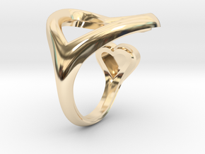 2 heart ring in 14K Yellow Gold: 7 / 54