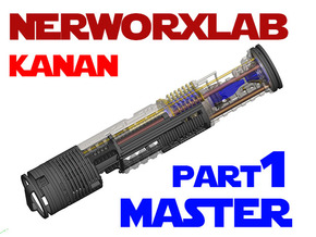 NWL Kanan - Master Part1 Lightsaber Chassis in White Natural Versatile Plastic