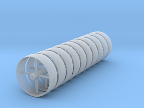 c.1:48  Flat Belt Pulley - 8ea in Smooth Fine Detail Plastic