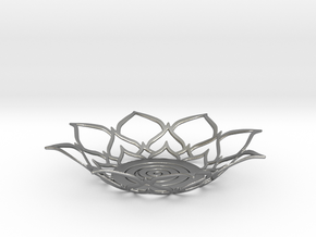 Lotus Tealight Holder in Natural Silver