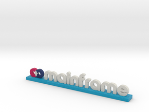 Mainframe Logo Blue in Full Color Sandstone