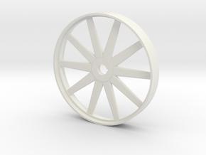 Steam Era Flywheel - 46mm in White Natural Versatile Plastic