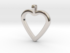 Classic Heart Pendant in Platinum