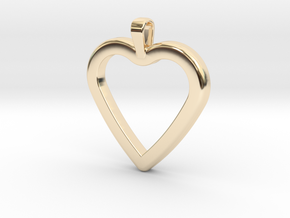 Classic Heart Pendant in 14k Gold Plated Brass