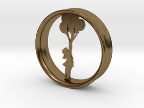 Girl Balloon Rim in Polished Bronze