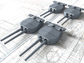 "1/350 HMS Hood 15"" (38.1 cm) Mark II Turrets 1920 in Smooth Fine Detail Plastic"