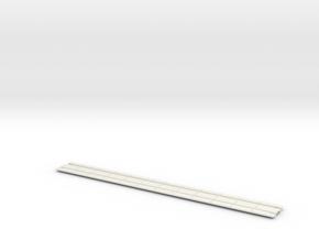 HO Concrete Trolley Track in White Natural Versatile Plastic