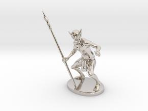 Ur-Vile Miniature in Rhodium Plated Brass: 1:55