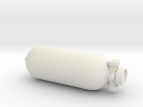 1/6 Scale Compressed Air Tank / 1953 Everest Exped in White Natural Versatile Plastic
