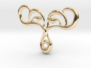 Drop of life in 14k Gold Plated Brass