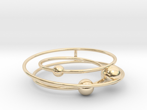 Mystery Planet (New version) in 14k Gold Plated Brass