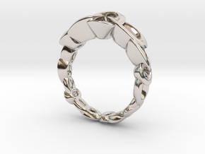 Neitiri Easy Love Ring (From $19) in Rhodium Plated Brass: 8.5 / 58