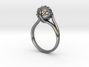 pearl ring in Premium Silver: 8 / 56.75