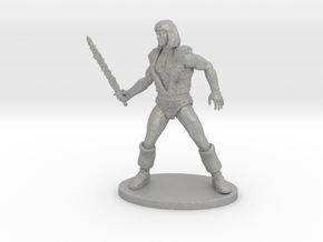 Thundarr the Barbarian Miniature in Raw Aluminum: 1:55