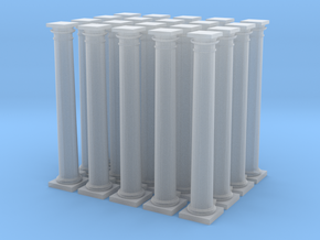 20 Doric Columns 35mm high (HO) Scaled in Smooth Fine Detail Plastic
