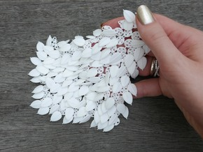 Leafy Fabric Piece in White Strong & Flexible