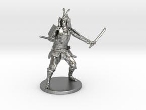 Samurai Miniature in Natural Silver: 1:55