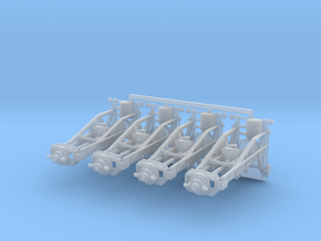 1/87th (H0) scale Wagon Lifting Jacks (4 pcs) in Smooth Fine Detail Plastic
