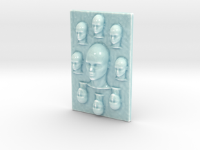 Personalised Bas Relief in Gloss Celadon Green Porcelain