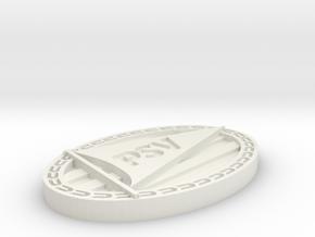 Logo PSV in White Natural Versatile Plastic: Extra Small