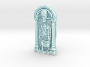 Personalised Throne of Christ Relief in Gloss Celadon Green Porcelain