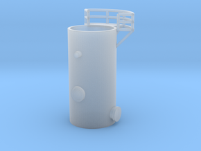 'N Scale' - 10' Distillation Tower - Bottom in Smooth Fine Detail Plastic