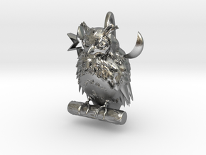Horn-owl in Natural Silver