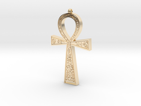 Ankh Pendant in 14k Gold Plated Brass