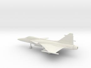 Saab JAS.39C Gripen in White Natural Versatile Plastic: 1:100