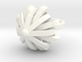 Package Bow Ring Size 7 in White Processed Versatile Plastic