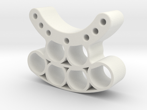 OD85 -Tungsten PINEWOOD support -V4 -OD85  - REAR in White Natural Versatile Plastic