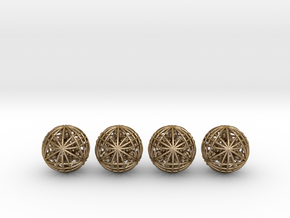 """Four Awesomeness Juggling Balls (4x2.5"""") in Polished Gold Steel"""