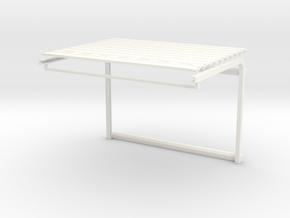 1/64 Overhead Door 30w x 20h (5.56w x3_75h) Kit in White Processed Versatile Plastic