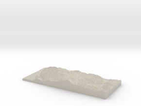 Model of White Rock Ridge in Natural Sandstone