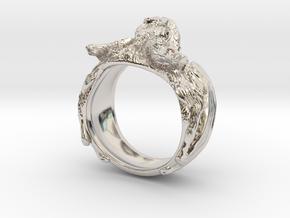 Vampire Bat Ring in Rhodium Plated Brass: 6 / 51.5