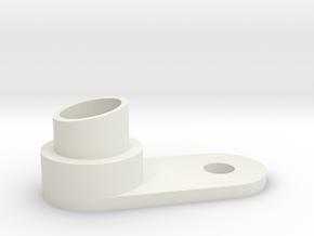 Slash Cut Single Exhaust in White Natural Versatile Plastic
