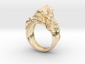 Roaring Lion King of Jungle Ring  in 14K Yellow Gold: 7 / 54