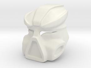 Kestora Mask / Face in White Natural Versatile Plastic