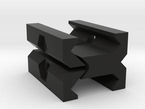 Picatinny to Picatinny Clamp Adapter in Black Premium Versatile Plastic