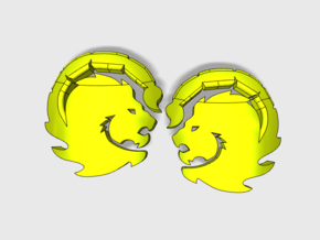 60x Manticores : Right & Left Shoulder Insignia pa in Smooth Fine Detail Plastic