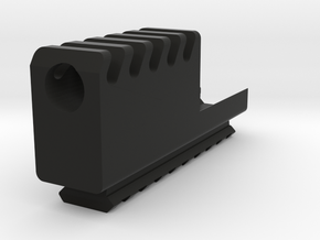 Frame Mount Compensator with Bottom Rail G17 G18 in Black Natural Versatile Plastic
