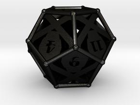 D12 Balanced - Skull and Bones in Matte Black Steel