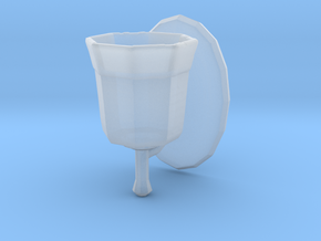 Printle Thing Bathroom light 1/24 in Smooth Fine Detail Plastic