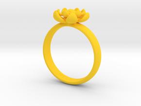 Flower Ring in Yellow Processed Versatile Plastic