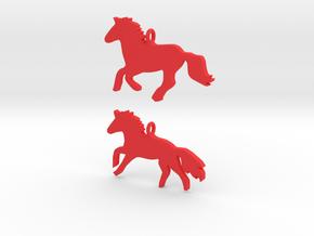 Horses earrings in Red Processed Versatile Plastic: 28mm