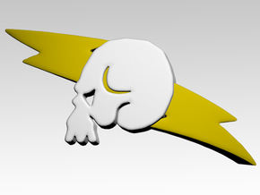 Skull & Lightning 2 Shoulder Icons x50 in Smooth Fine Detail Plastic