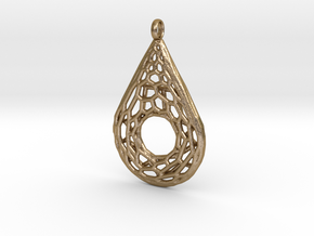 Drop Mesh 1 Pendant in Polished Gold Steel