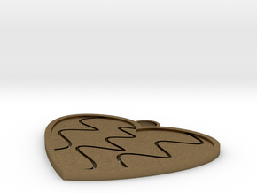 Heart in Natural Bronze