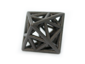 Icosa-Octahedron in Matte Black Steel